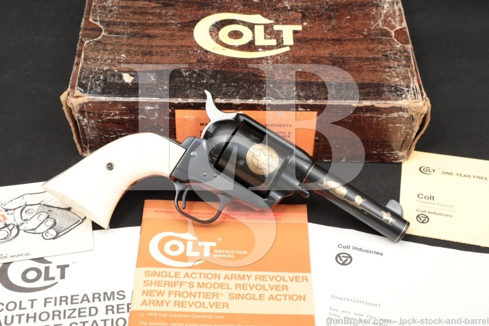 Colt Texas Sesquicentennial Sheriff's Model SAA .45 Revolver, 1986 ATF C&R