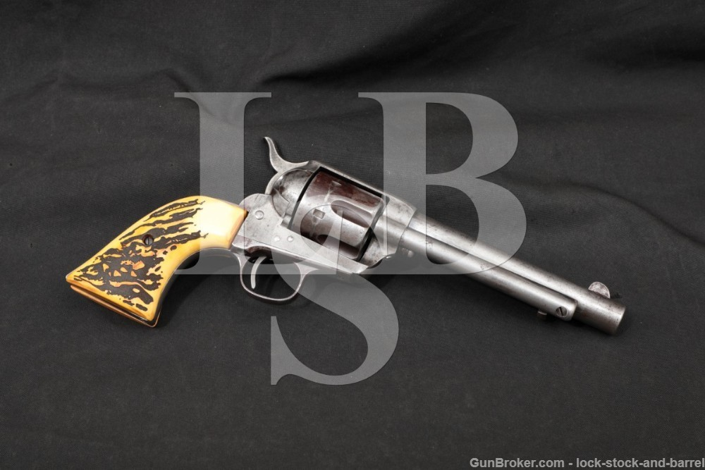 Colt US Model 1873 DFC Single Action Army SAA .45 Revolver, 1887 Antique