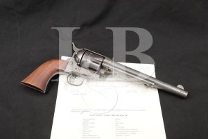 Colt US Model 1873 Single Action Army SAA 45 Revolver & Letter 1887 Antique
