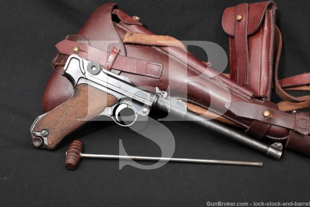 DWM Long P08 Artillery Luger Blank Chamber Re-Work 9mm Semi-Auto Pistol C&R