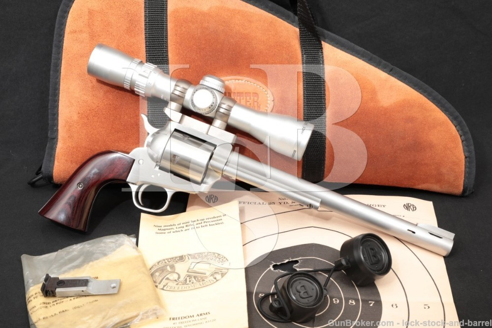 "Freedom Arms Model 83 Stainless 10"" .454 Casull Single Action Revolver"