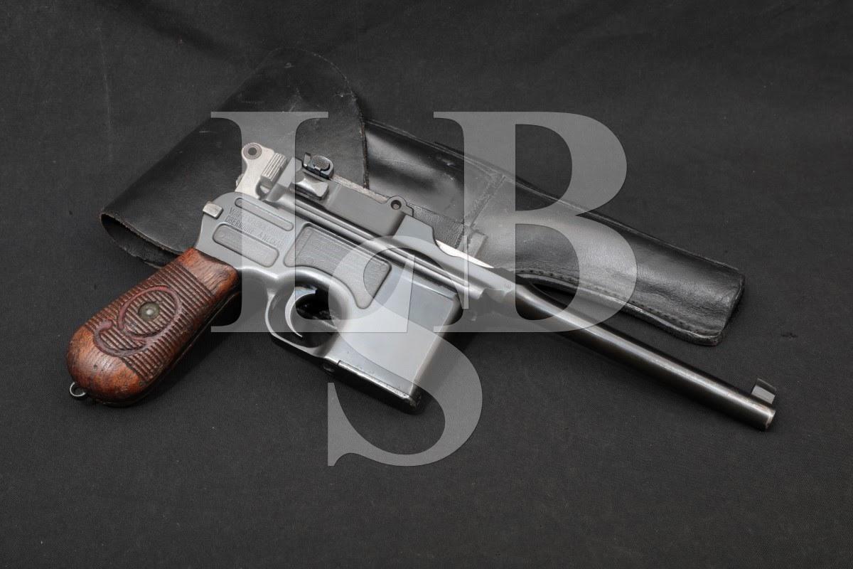 Mauser C96 C-96 M1916 Red 9 Broomhandle 9mm Blue Semi-Auto Pistol, C&R