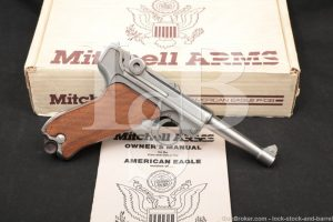 Mitchell Arms American Eagle Stainless 9mm Luger Semi-Auto Pistol, NO CA
