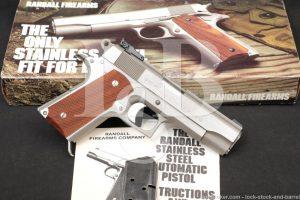 "Randall Model Curtis E. LeMay Four Star A331 1911 45 ACP 4.25"" Pistol NO CA"