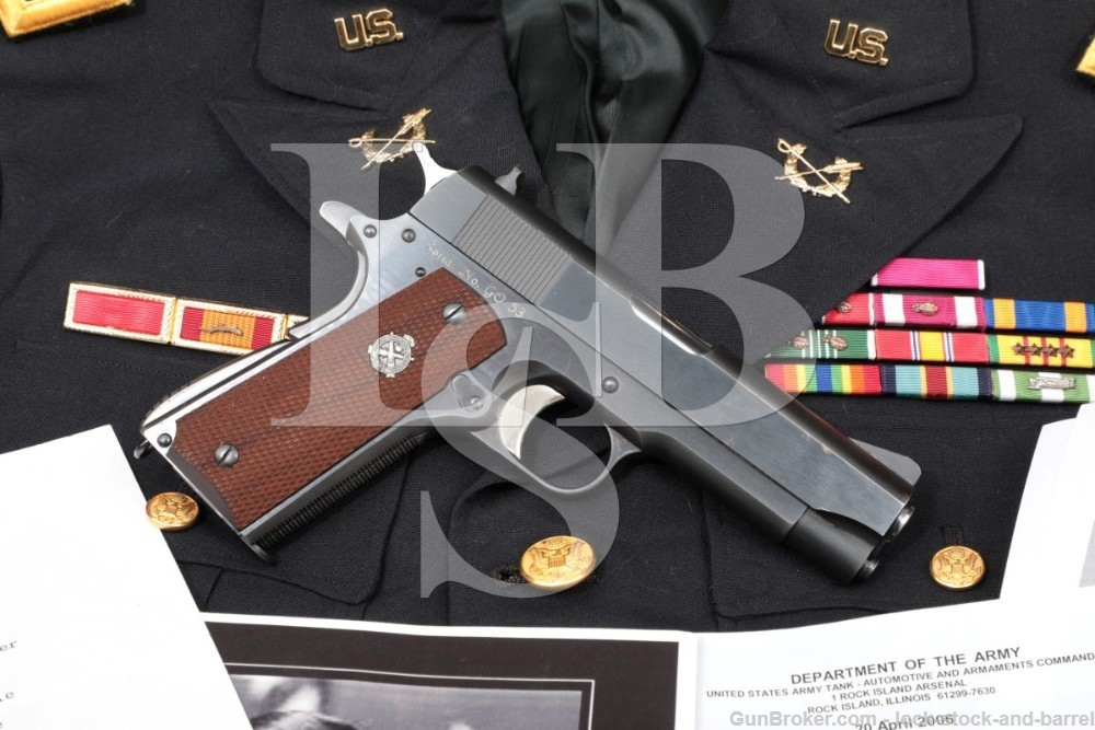 Rock Island Arsenal RIA M15 M-15 General Officer Pistol .45 ACP, MFD 1973