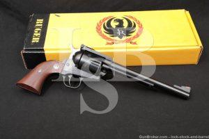 """Ruger New Model Blackhawk .30 Carbine Single Action Revolver 7.5"""" Blue 1973"""