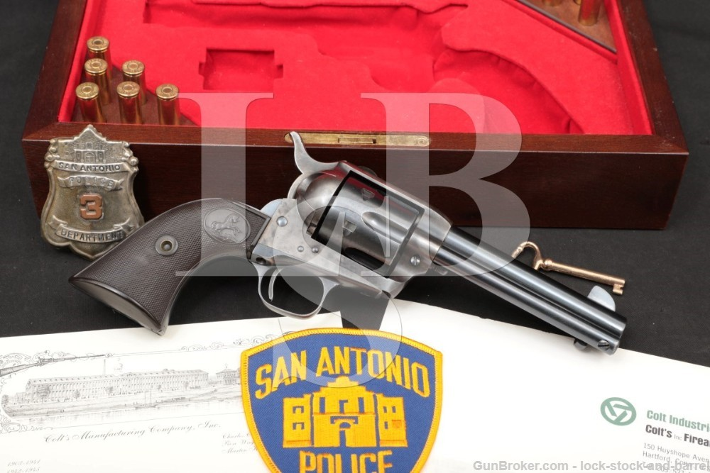 San Antonio SAPD Texas Colt Single Action Army SAA .45 Revolver, 1927 C&R