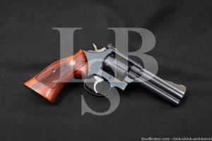 "Smith & Wesson S&W Model 586-1 .357 Distinguished Magnum 4"" Revolver 1986"
