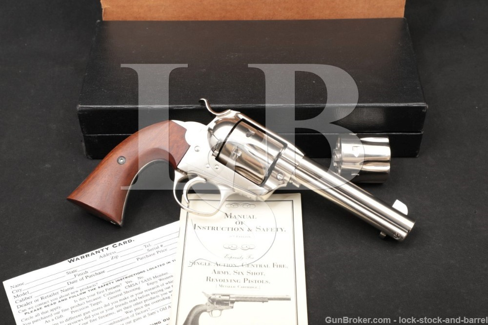 USFA Bisley model SAA Nickel .41 Colt/38-40 WCF Single Action Army Revolver
