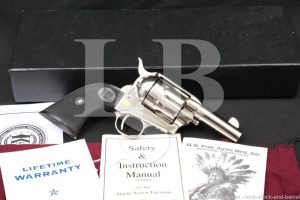 "USFA Sheriff's Model SAA Nickel 3"" .45 Colt Single Action Army Revolver"