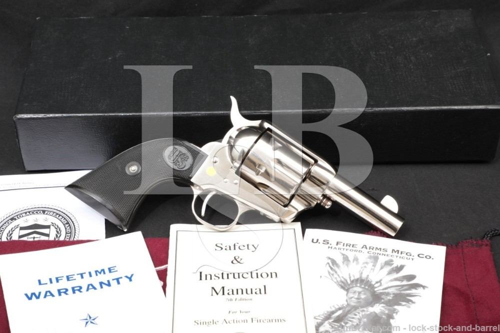 USFA Sheriff's Model SAA Nickel 3″ .45 Colt Single Action Army Revolver