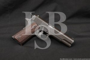 WWI Colt Model of 1911 U.S. Army .45 ACP Semi-Automatic Pistol, 1918 C&R