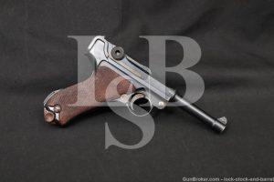 WWI German DWM Model P.08 P-08 P08 Luger 9mm Semi-Auto Pistol, MFD 1915 C&R