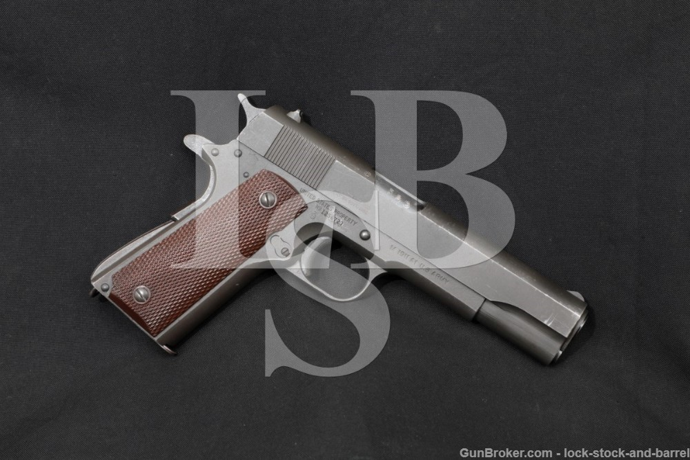 WWII Ithaca British Lend-Lease US Ithaca M1911A1 .45 ACP Semi-Auto Pistol 1943 C&R