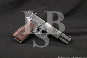 WWII Nazi Marked FN P35 M1935 Hi Power Fixed Sight 9mm Semi-Auto, 1944 C&R