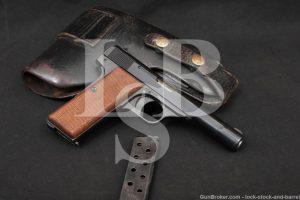 WWII Nazi Occupied FN 1922 .32 ACP 7.65mm Semi-Auto Pistol, 1942-1944 C&R