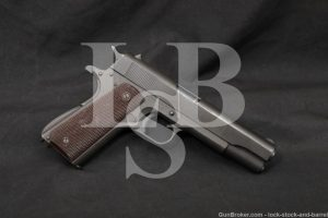 WWII Remington Rand/Colt 1911A1 1911-A1 .45 ACP Semi-Auto Pistol, 1944 C&R