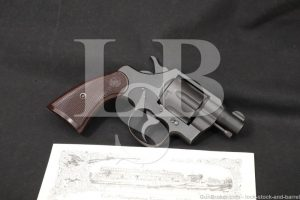 "WWII U.S. Colt Commando Model 2"" Parkerized .38 Special Revolver, 1943 C&R"