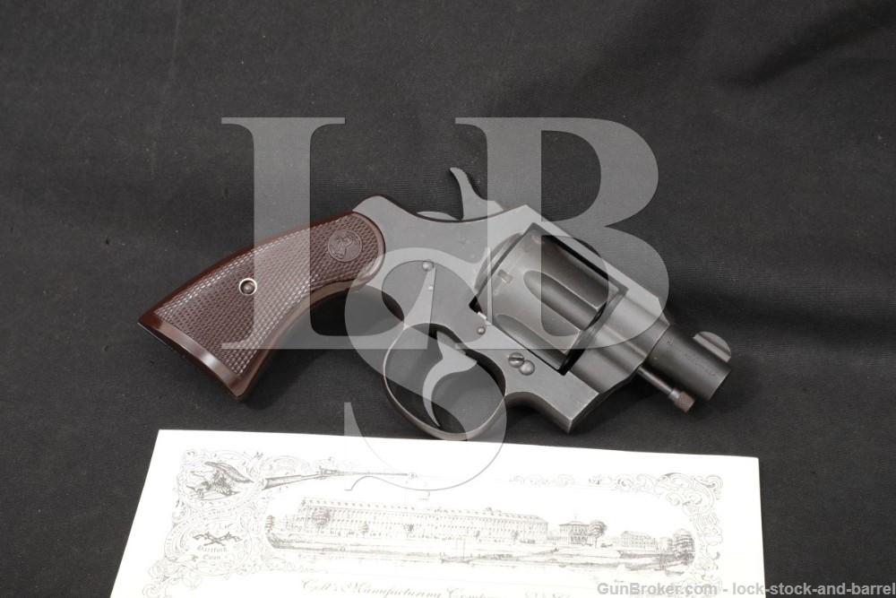 WWII U.S. Colt Commando Model 2″ Parkerized .38 Special Revolver, 1943 C&R