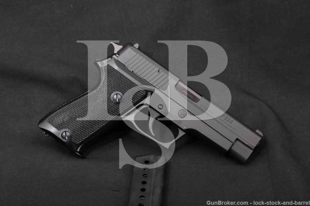 West German Sig Sauer P220 .38 Super 4.4″ DA/SA Semi-Automatic Pistol 1988