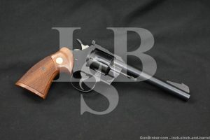"Colt Officers Model Match 6"" .22 LR Double Action Target Revolver, 1969 C&R"