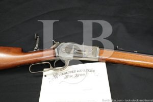 """1st Year Winchester 1886 '86 .40-82 WCF 26"""" Lever Rifle & Letter, Antique"""