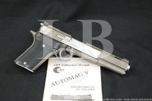 "AMT Irwindale Model Automag V 5 .50 AE 6"" Semi-Automatic Pistol MFD 1993-95"