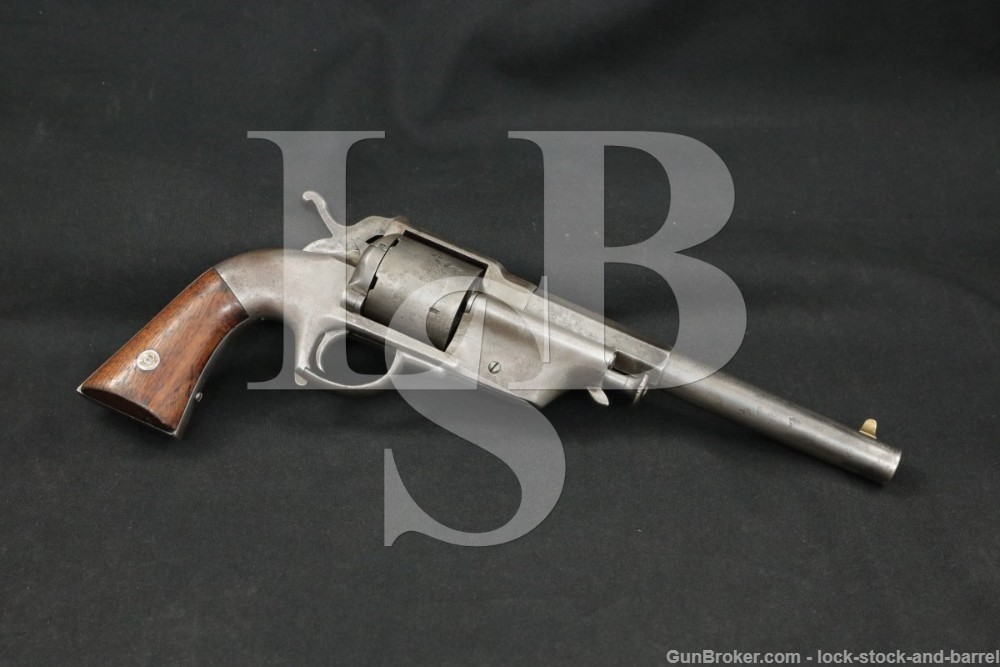"Allen & Wheelock 44 Lip Fire ""Army"" Double Action Revolver, 1860-63 Antique"