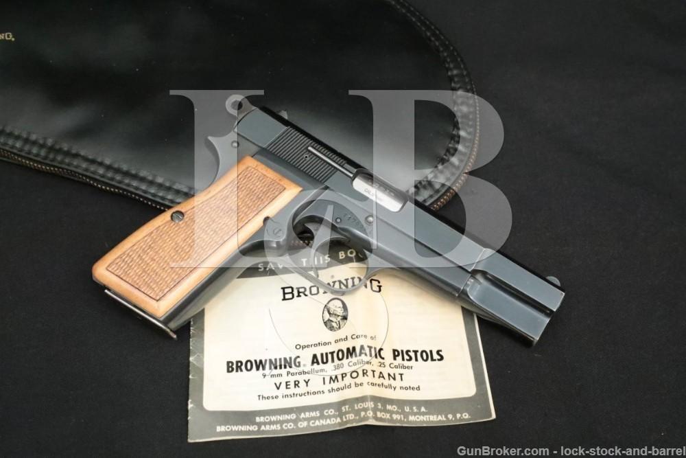 Browning FN Belgian High Hi-Power T-Series 9mm Semi-Auto Pistol, 1967 C&R