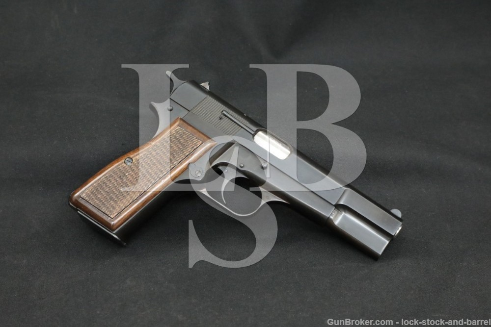 """Browning FN Hi Power 9x19mm 4 5/8"""" Blue Semi-Automatic Pistol, MFD 1991"""
