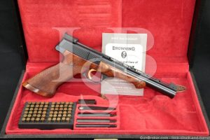Browning FN Medalist .22 LR Semi-Auto Target Pistol Case & Weights 1971