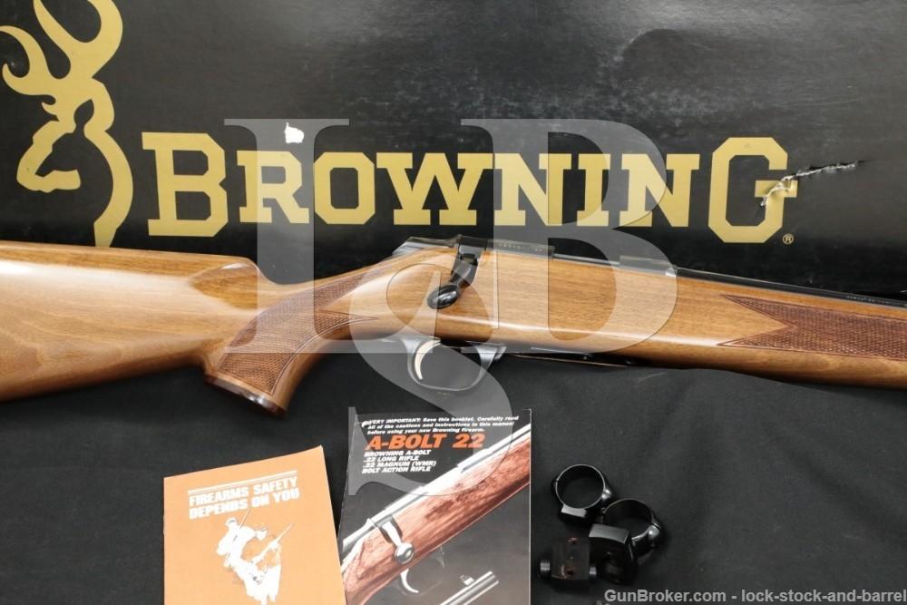 """Browning Model A-Bolt .22 Magnum WMR 22"""" Bolt Action Rifle MFD 1991"""