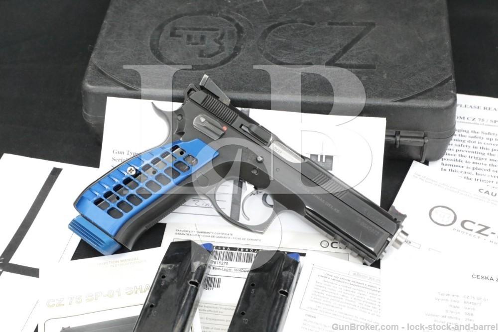 """CZ USA Custom CZ-75 SP-01 Accu Shadow, 9mm 4.6"""" Semi-Auto Pistol, MFD 2014"""