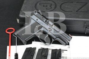 "CZ USA Model 2075 Rami, Black 3"" 9mm Semi Automatic Pistol & Case, MFD 2017"