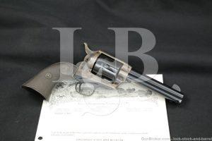 "Colt 1st Gen Single Action Army SAA 4 3/4"" .45 Revolver & Letter, 1927 C&R"