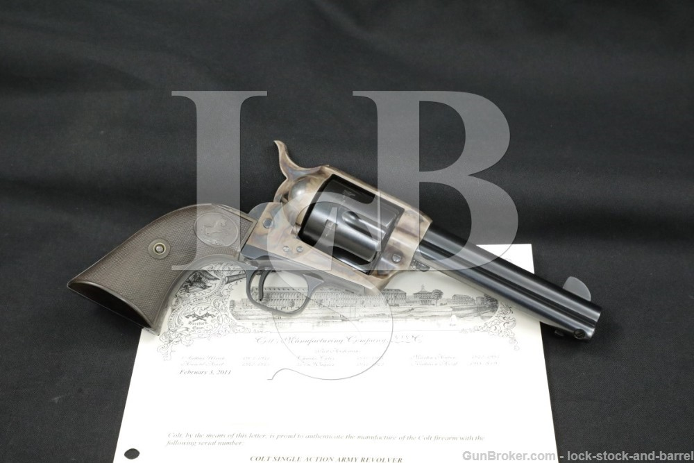 "Colt 1st Gen Single Action Army SAA 4 3/4"" .45 Revolver & Letter, 1927 C&R"