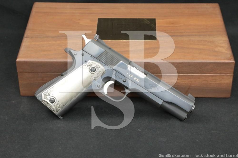 Colt Arkansas Special Edition 1 of 200 Service Model Ace .22 Pistol, 1978