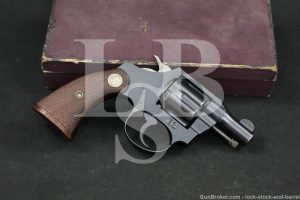 """Colt Bankers' Special Model 2"""" .38 S&W Double Action Revolver, MFD 1933 C&R"""