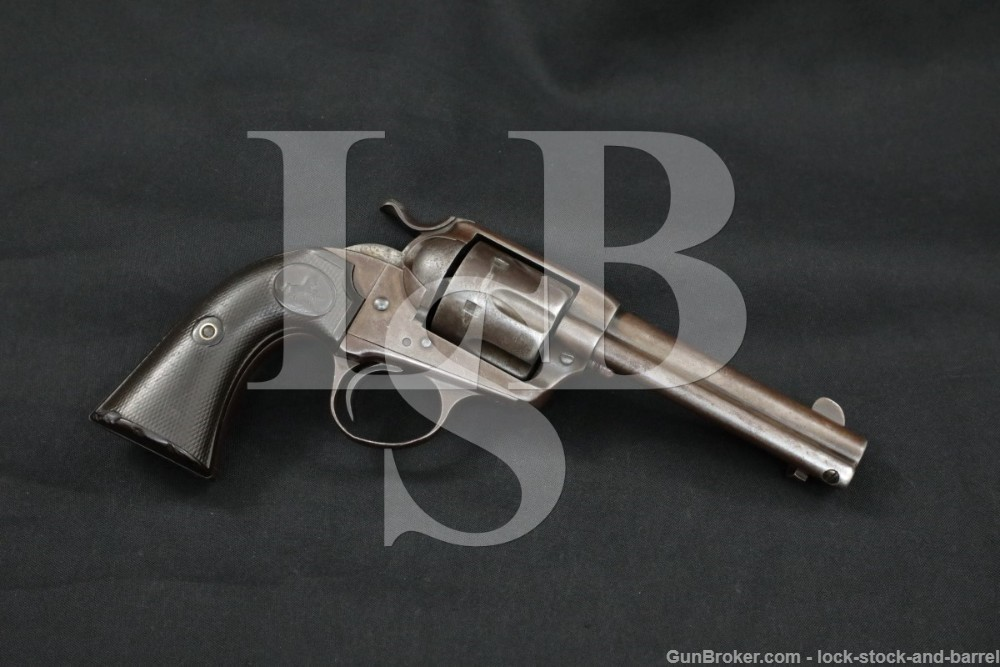 Colt Bisley Model Single Action Army SAA .38-40 WCF Revolver, MFD 1901 C&R