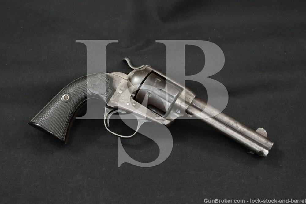 "Colt Bisley Model Single Action Army SAA 4 3/4"" Blue .45 Revolver, 1905 C&R"