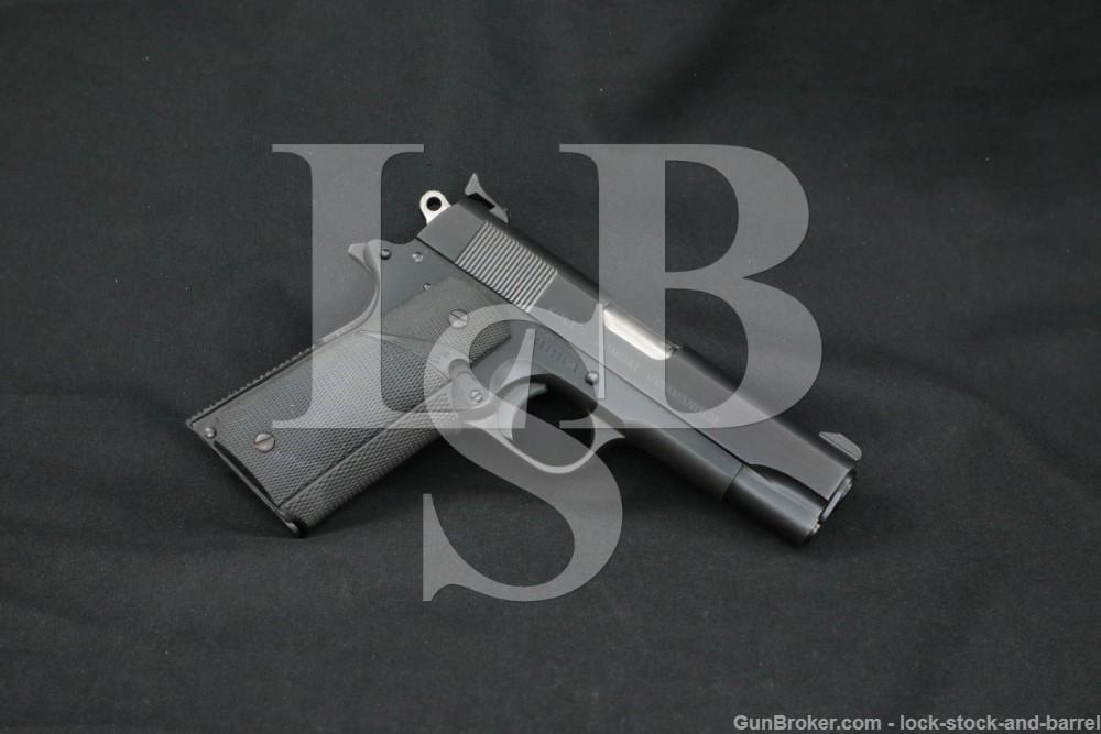 Colt Combat Commander Blue Pre-Series 80 .45 ACP Semi-Auto Pistol, MFD 1975