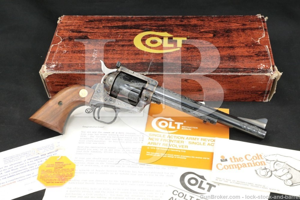 Colt Custom Shop C-Engraved New Frontier SAA 45 Single Action Army Revolver