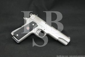 Colt Delta Elite Stainless 10mm 1911 Government Semi-Auto Pistol, MFD 1989