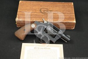 """Colt Detective Special 2nd Issue .38 Spl 2"""" Double Action Revolver 1960 C&R"""