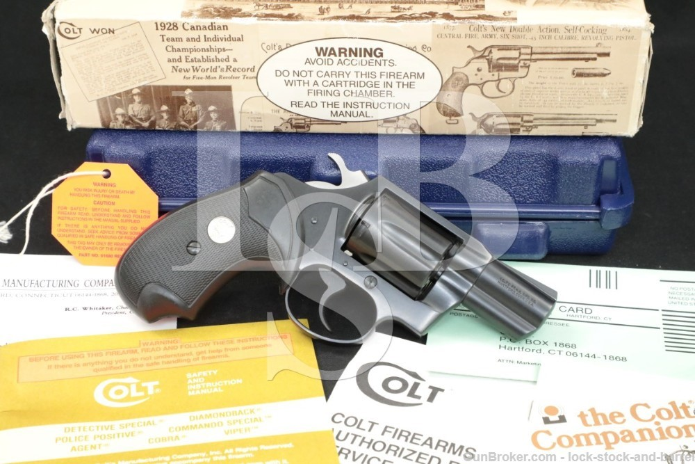 """Colt Detective Special 4th Issue 6-Shot 2"""" .38 Special Revolver, MFD 1995"""