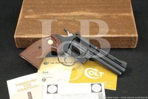 "Colt Diamondback Model D5540 Blue 4"" 38 Special Double Action Revolver 1978"