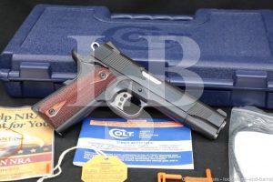 """Colt Government Model O1980XSE 1911 Blue 5"""" .45 ACP Semi-Auto Pistol, 2010"""