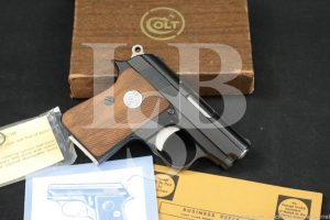 Colt Junior Model .25 ACP Semi-Automatic Pocket Pistol & Box MFD 1973
