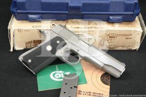 """Colt MK IV Series 80 Government Enhanced 01070E .45 ACP 5"""" 1911 Pistol 1995"""