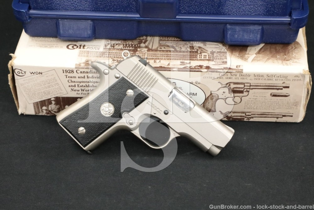 Colt MK IV Series '80 Mustang .380 ACP Semi-Automatic Pistol MFD 1987